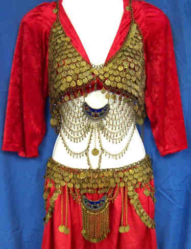 <b>Tribal Bra Cover Belt and Head Piece</b>